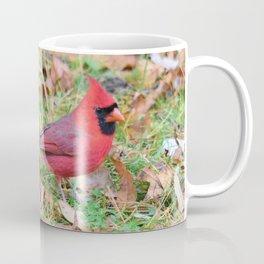 Autumn Leaves Cardinal Coffee Mug