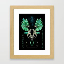The Turquoise Queen - Dancing Nirchreis Framed Art Print