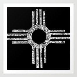 Sacred Zia Art Print