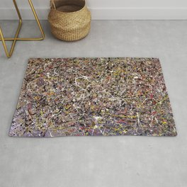 Intergalactic - Jackson Pollock style abstract painting by Rasko Rug