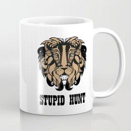 "Cecil The Lion ""Stupid Hunt"" Coffee Mug"