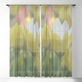May Flowers For Mom Sheer Curtain