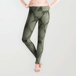 Braided Diamond Simply Green Tea Leggings