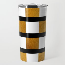 Black White and Gold Travel Mug