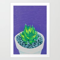 succulent Art Prints featuring Succulent by marlene holdsworth