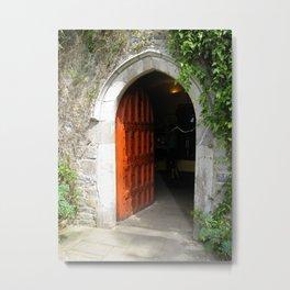Through The Red Door Metal Print
