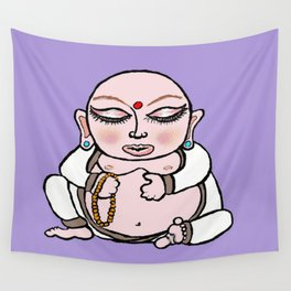 Little Round Buddha Wall Tapestry