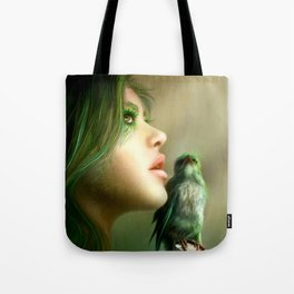 Green Whisper Tote Bag