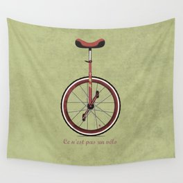 Unicycle Wall Tapestry