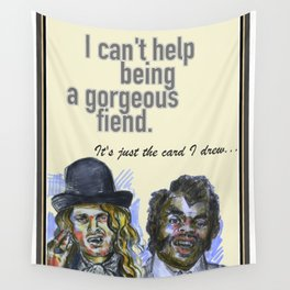I can't help being a gorgeous fiend - Psych Quotes Wall Tapestry