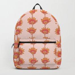 Warm Floral Gazania Pattern Backpack