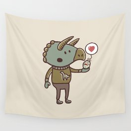 Prehistoric Love Wall Tapestry