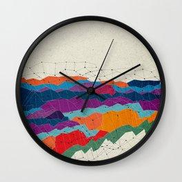 Landscape on Mars Wall Clock
