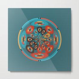 Round geometric design Metal Print