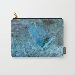 Oceania Teal & Blue Marble Carry-All Pouch