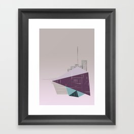 floating city doodle Framed Art Print