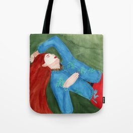 Watercolor fashion illustration. Sleeping Beauty Tote Bag