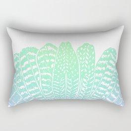 TRIBAL FEATHERS - SEAFOAM Rectangular Pillow
