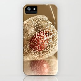 Physalis on gold iPhone Case