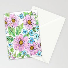 Colorful floral pattern . 1 Stationery Cards
