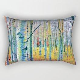 Aspen Trees in the Fall Rectangular Pillow