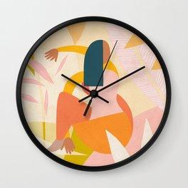 Self Love Practice in Nature Wall Clock