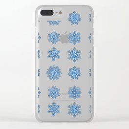 Snowflake Pattern Christmas Winter Snow Gift Design Clear iPhone Case