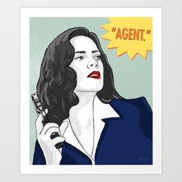 Agent Carter V.2 Art Print