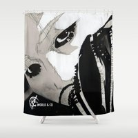 shinee Shower Curtains featuring SHINee's Onew by Worldandco