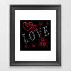 Love. Valentine's day. Framed Art Print