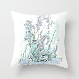 Petrified Bird Throw Pillow