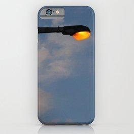 Street Lamp Post Evening Sky iPhone Case
