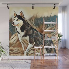 The Siberian Husky Wall Mural