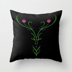 Anna Winter Embroidery Throw Pillow