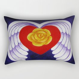 You Are My Angel With Heart Rose And Angel Wings By Annie Zeno Rectangular Pillow
