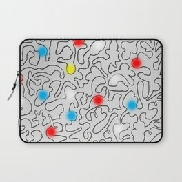 Puzzle with Spraypaint - Primary Colors Laptop Sleeve