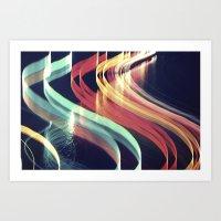 Light Structures//3 Art Print