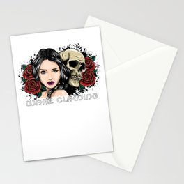 White Clawing Date Stationery Cards