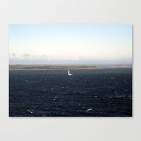 sailing Canvas Prints featuring sailing. by zenitt