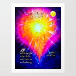 Zodiac sign Sagittarius  2 Art Print