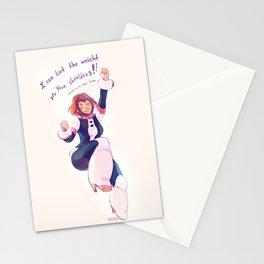 Motivational Uraraka Stationery Cards