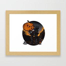 Headless Horseman's cofee break Framed Art Print