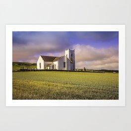 Ballintoy Church Art Print