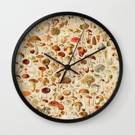 Vintage Mushroom Designs Collection Wall Clock