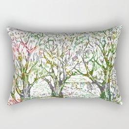 Spring garden. Rectangular Pillow