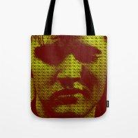 elvis Tote Bags featuring Elvis by Ganech joe