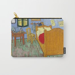 1889-Vincent van Gogh-The bedroom-73,6x92,3 Carry-All Pouch