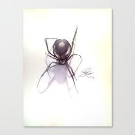 Ballpoint pen Black Widow Drawing Canvas Print