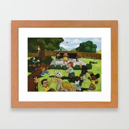 BACKYARD BOOGIE Framed Art Print