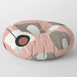 Orbs & Squares Pink Floor Pillow